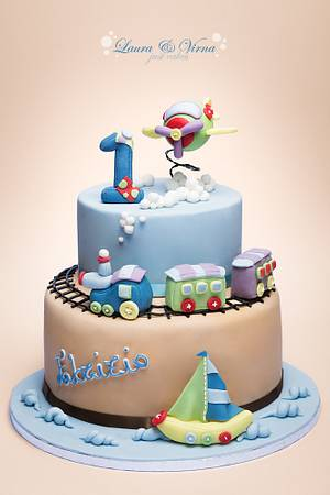 Baby boy cake - Cake by Laura e Virna just cakes