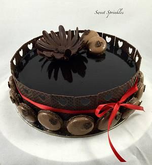 Chocolate Entremet - Cake by Deepa Pathmanathan