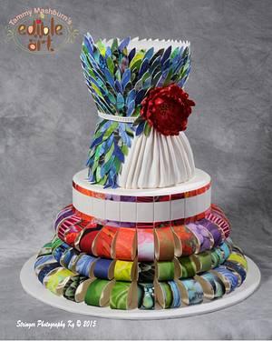"North Florida Cake Show Entry 2015 ""Paper Dress"" - Cake by Tammy Mashburn"