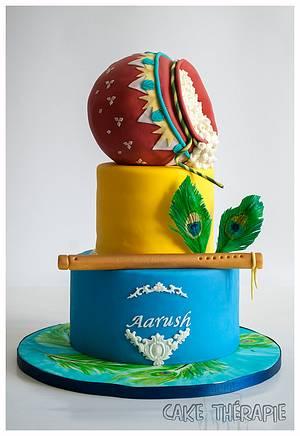 Little Krishna themed Birthday cake- Hindu Mythology theme - Cake by Caketherapie