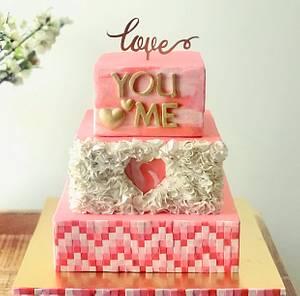 Caker Buddies Valentine's Collaboration - Couleurs de l'amour (Colours of love) - Cake by Meringue