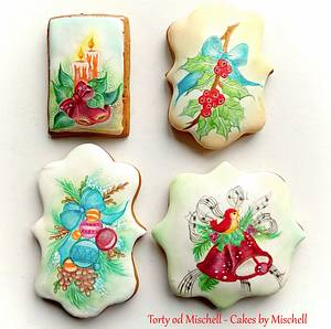Hand painted christmas gingerbread - Cake by Mischell