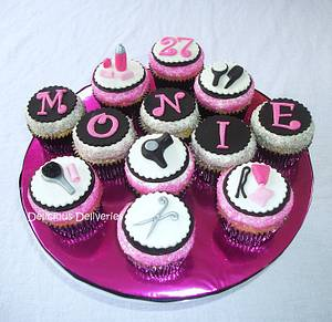 Hairdresser Themed Cupcakes - Cake by DeliciousDeliveries