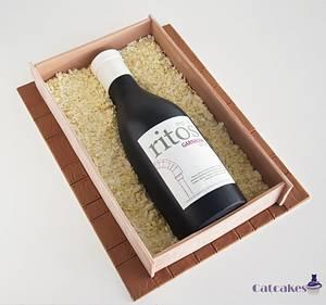 Wine bottle cake - Cake by Catcakes