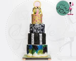 Modern Art Cake - Cake by sheingscakemeaway