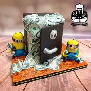 Minions Make it Rain!!!  - Cake by Henrique Antunes - Henrique's Cakes