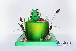 La Rana y La mariquita  - Cake by Floren Bastante / Dulces el inflón