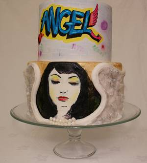 Angel inspired cake.  - Cake by JT Cakes