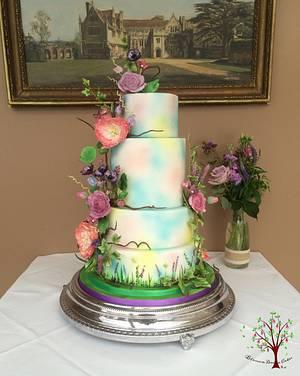 English country garden wedding cake - Cake by Blossom Dream Cakes - Angela Morris