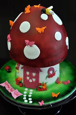 Mushroom house.. - Cake by Serendib Cakes