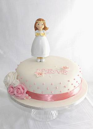 Simple First communion Cake - Cake by Artym