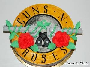 Guns'n roses cake - Cake by alexandravasile