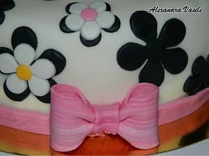 Black and white cake - Cake by alexandravasile