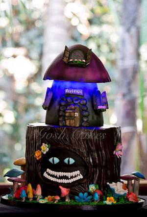 Tim Burton Enchanted Forest  - Cake by GoshCakes