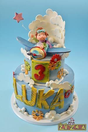 Luka, the little pilot - Cake by Nasa Mala Zavrzlama