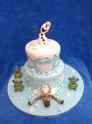 Frozen birthday cake - Cake by Deborah Cubbon (the4manxies)