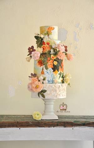 A Tribute to Renoir - Cake by Sumaiya Omar - The Cake Duchess