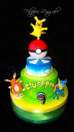 Pokèmon friends - Cake by filippa zingale
