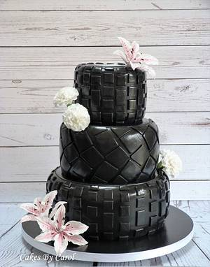 Tyre Wedding Cake - Cake by Carol
