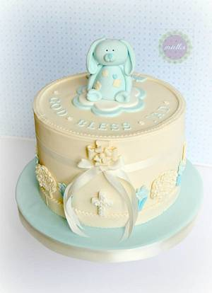 Christening Cake, Easter-inspired - Cake by miettes