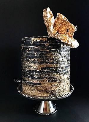 Wafer Paper Fireworks - Cake by Dozycakes