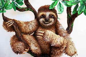 Neil the Pygmy Three Toed Sloth Cake - Cake by Vicki's Incredible Edibles