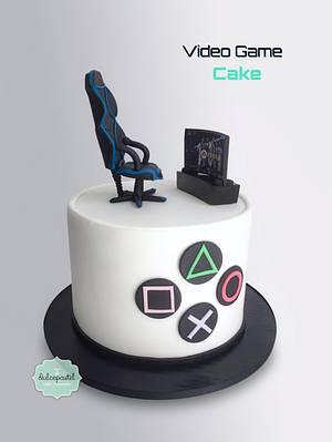 Torta Videojuegos - Videogames Cake - Cake by Dulcepastel.com