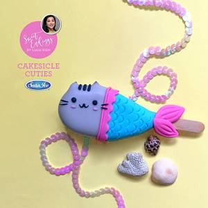 Magical Mermaid Pusheen Cakesicle - Cake by Lulu Goh