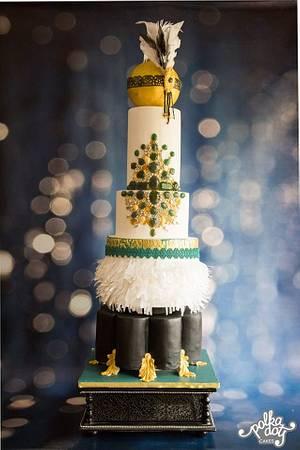 THE GREAT GATSBY-A MODERN WEDDING CAKE - Cake by lecakekraft