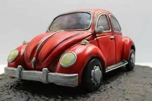 Retro VW Beetle cake  - Cake by Novel-T Cakes