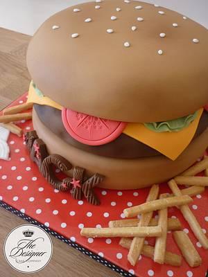 Cheeseburger birthday cake - Cake by Isabelle Bambridge
