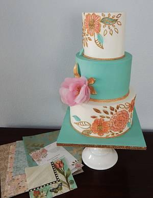 Vintage vows renewal - Cake by Olga