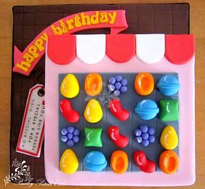 Candy Crush Saga Cake - Cake by Paisley Petals Cakes