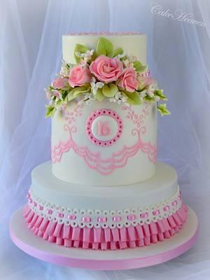 Sweet 16 Birthday Cake - Cake by CakeHeaven by Marlene