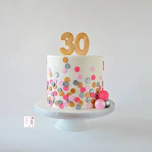 Polka Dot Birthday Cake - Cake by Jenny Kennedy Jenny's Haute Cakes