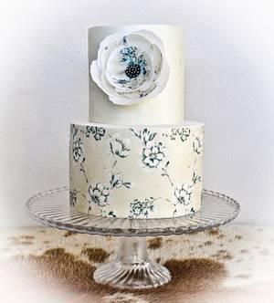Intimate wedding cake - Cake by Sandy Lawrenson - Sweet 'n  Sassy