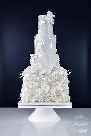 All in White Wedding Cake - Cake by Julia Marie Cakes