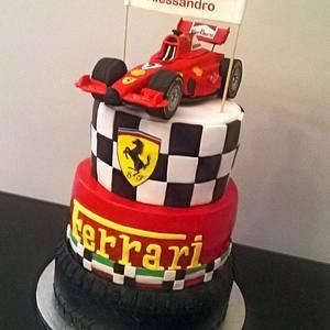 F1 Ferrari car cake - Cake by Gabriella Luongo