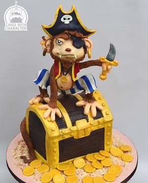 Monkey Pirate - Cake by Jean A. Schapowal