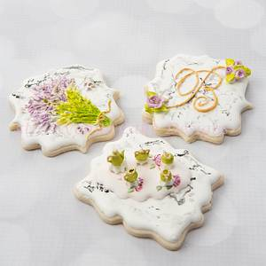 Dimensional Stone Marble Cookies 🍵🌿💐 - Cake by Bobbie