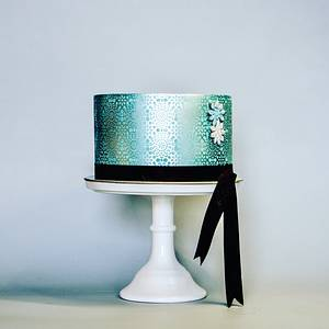 Blue Royal Satin - Cake by Le RoRo Cakes