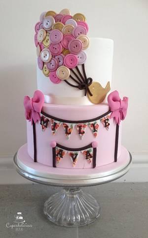 Button Balloons! - Cake by Cupcakelicious