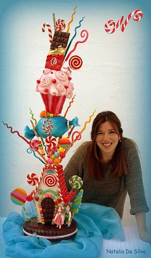 """Hansel y Gretel"" Towercake - Cake by Natalia Da Silva Carmona"
