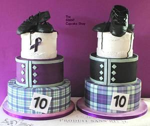 Matching Highland Dancing cakes - Cake by Amelia Rose Cake Studio