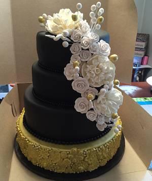 Elegant 50th birthday cake - Cake by Raindrops