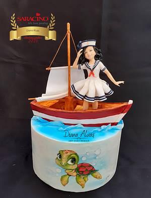 On the waves.... - Cake by  Diana Aluaş