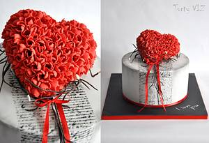 Red love - Cake by CakesVIZ