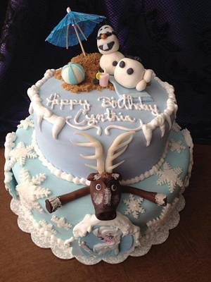Frozen birthday cake - Cake by Samantha Corey