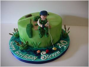 Fishing themed birthday cake - Cake by Cakes by Julia Lisa