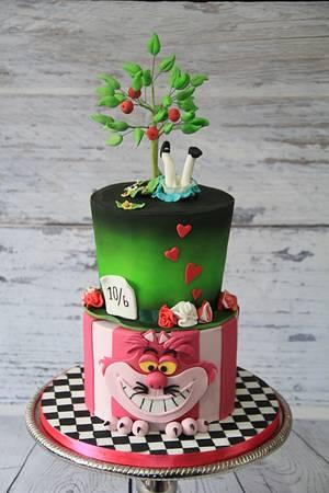 Alice in Wonderland Cake - Cake by Cake Addict